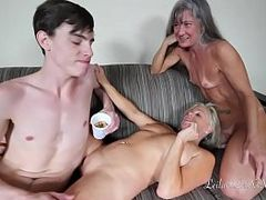Hot MILF, m.i.l.f, MILF In Threesome, Tiny Porn, Teen In Threesome, Threesome Mff, Young Fuck, 19 Yr Old Pussies, Threesome, Mom Anal