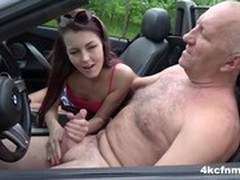 Old Man Young Girl, Handjob Cum, Perfect Body, Real Riding Orgasm Cock