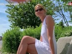 blondes, Blonde MILF, Creampie, Creampie MILF, German, German Creampie Pussy, German Milf Threesome, German Mature Outdoor, Hot MILF, Hot Milf Anal, m.i.l.f, outdoors, Perfect Body Anal Fuck