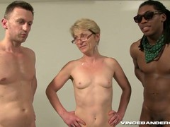 gang Bang, Gilf Orgy, gilf, Granny In Gangbang, Short Hair Bbw