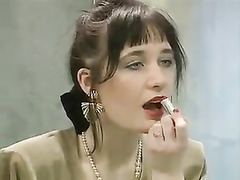 Sex Contest, vintage, Watching My Wife, Couple Watching Porn, Lingerie Cumshot, in Corset, Perfect Body Masturbation