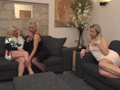 Hot Milf Fucked, Hot Mom In Threesome, Lesbian, Lesbian Strapon Threesome, Lesbian Step Mom and Daughter, sex With Mature, Mature Lesbian, Mom, See Through Lingerie, Forced Threesome, Threesome, Amateur Teen Perfect Body