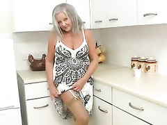 British Beauty, Gilf Big Tits, Grandma Boy, Sex on Kitchen Table, Watching Wife, Couple Fuck While Watching Porn, british, Perfect Body Amateur Sex, UK